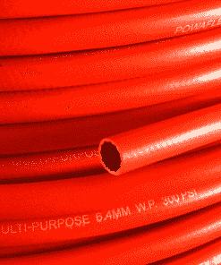6mm 1/4″ Powaflex Red Multi Purpose Hose CLoseup