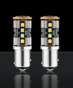 STEDI 2 Pack BA15D 1157 p215w BAY15D 20smd 3030 LED Closeup
